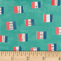 Carrie Bloomston Wonder French Flags Aqua