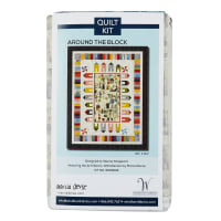 Marcia Derse Art History:101 Around The Block Quilt Kit Multi