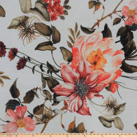 Preview Textiles Fall Flower Print Sheer Chiffon Floral Nude