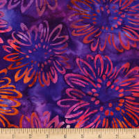 Kaufman Bright Blooms Artisan Batiks Purple