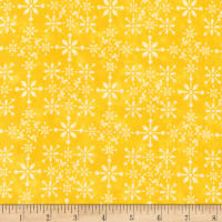Kaufman Gardenside Path Damask Yellow