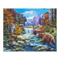 "Kaufman Picture This 24"" Panel Nature"