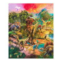 "Kaufman Picture This 24"" Panel Dinosaurs Wild"
