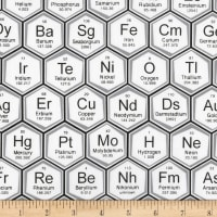 Kaufman Science Fair Periodic Table White