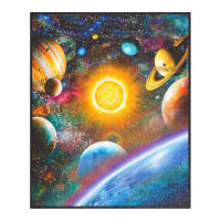 "Kaufman Stargazers Digital Atmosphere 36"" Panel Solar System Multi"
