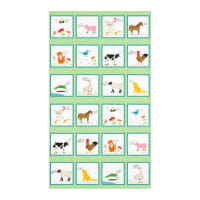 "Kaufman What Do The Animals Say Country 24"" Panel Farm Animals Multi"
