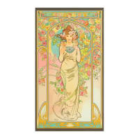 "Kaufman Alphonse Mucha 24"" Panel Digital Garden"