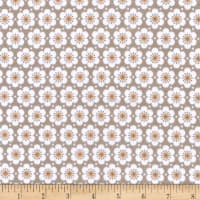 Kaufman Fleurie Flannel Allover Flowers Taupe