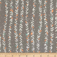Kaufman Fleurie Flannel Vined Leaves Taupe