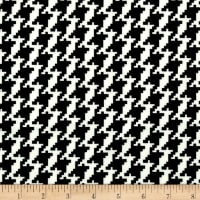 Techno Scuba Knit Houndstooth Black/White