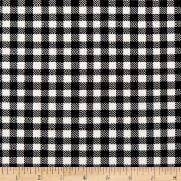 Techno Scuba Knit Gingham Black/White
