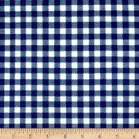 Techno Scuba Knit Gingham Blue/White