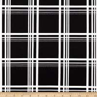 Techno Scuba Knit Plaid Black/White