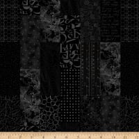 Laura Berringer Fade Out Low Volume Stacked Tiles Black