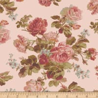 Faye Burgos Impromptu Mix Traditional Wallpaper Rose Pink