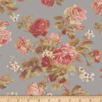 Faye Burgos Impromptu Mix Traditional Wallpaper Rose Gray