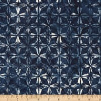 Kim Eichler-Messmer Imbue Batiks Diamond Flower Indigo
