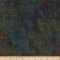 Kim Eichler-Messmer Imbue Batiks Textured Squiggle Navy/Yellow