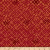 Kim Eichler-Messmer Imbue Batiks Diamond In Diamond Orange