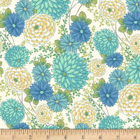 Laura Berringer Ki-Coo Gardens Asian Mums Blue