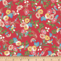 Laura Berringer Ki-Coo Gardens Tossed Flower Sprigs Red
