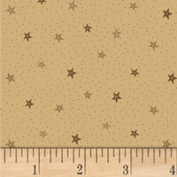 Pam Buda Primitive Threads Stars and Dots Tan
