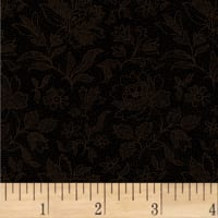 Pam Buda Primitive Threads Etched Tonal Flower Black