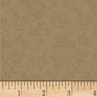 Pam Buda Primitive Threads Etched Tonal Flower Tan