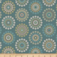 Laura Berringer In The Round Pinwheel Dots Teal