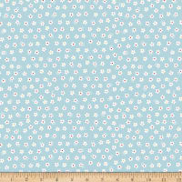 Riley Blake Calico Days Jersey Knit Calico Daisy Aqua