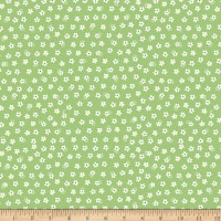 Riley Blake Calico Days Jersey Knit Calico Daisy Green