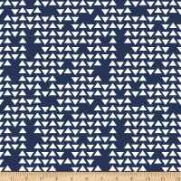 Riley Blake Jersey Knit Triangles Navy