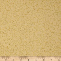 QT Fabrics A Golden Holiday Scroll Cream