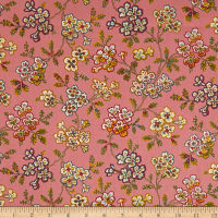 QT Fabrics Coventry Floral Vine Medium Pink