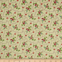 QT Fabrics Coventry Floral Trellis Light Sage