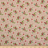 QT Fabrics Coventry Floral Trellis Light Pink