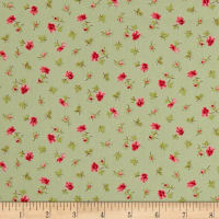 QT Fabrics Coventry Spaced Floral Light Sage
