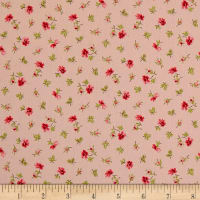 QT Fabrics Coventry Spaced Floral Light Pink