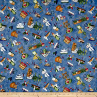 QT Fabrics Hungry Animal Alpha Food Toss Blue
