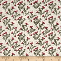 Lewis & Irene Celtic Reflections Thistle Metallic Red Cream Silver