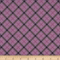 Lewis & Irene Celtic Reflections Check Metallic Purple Gold