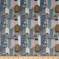 Lewis & Irene City Nights City Buildings Metallic Copper Multi