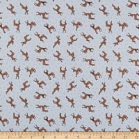 Lewis & Irene Small Things Country Creatures Deer Toss Grey