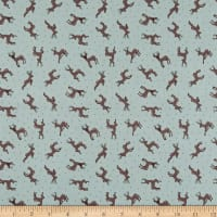 Lewis & Irene Small Things Country Creatures Deer Toss Sage
