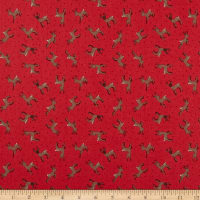 Lewis & Irene Small Things Country Creatures Deer Toss Red