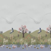 "Lewis & Irene The Water Meadow Water Meadow Digital 18"" Border Multi"
