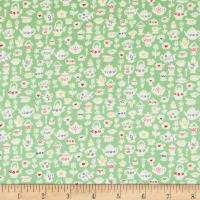 Liberty Fabrics Tea for Two Teacup Treasures Mint