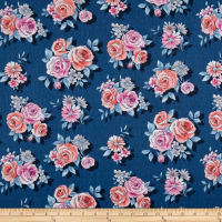 Andover Top Drawer Large Floral Blue