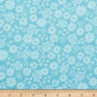 Andover Top Drawer Tonal Flroal Baby Blue