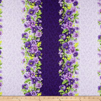 Maywood Studio Emma's Garden Pansy Stripe Purple